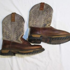 Rocky Leather Cowboy Cowgirl Rodeo Boots